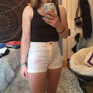 white pacsun jean shorts